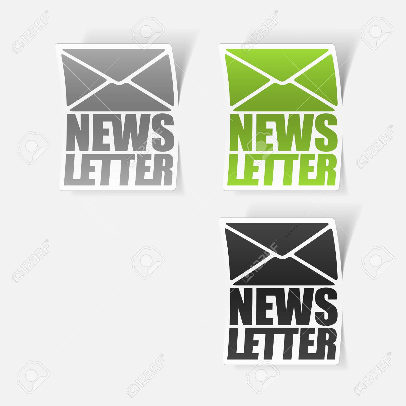 latest news, realistic sticker Stock Vector - 24029524