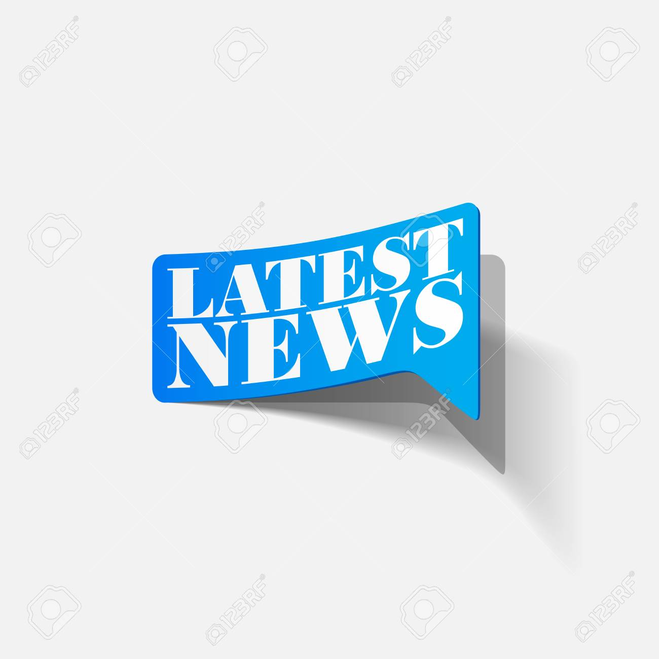 latest news, realistic sticker Stock Vector - 24004850