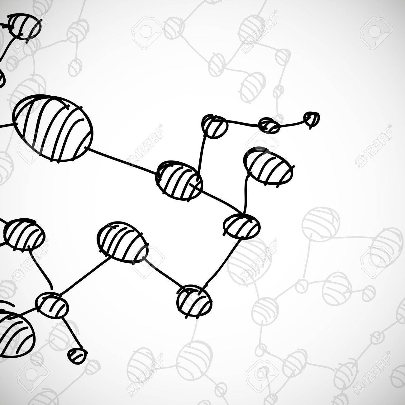 hand drawn DNA molecule Stock Vector - 24017194
