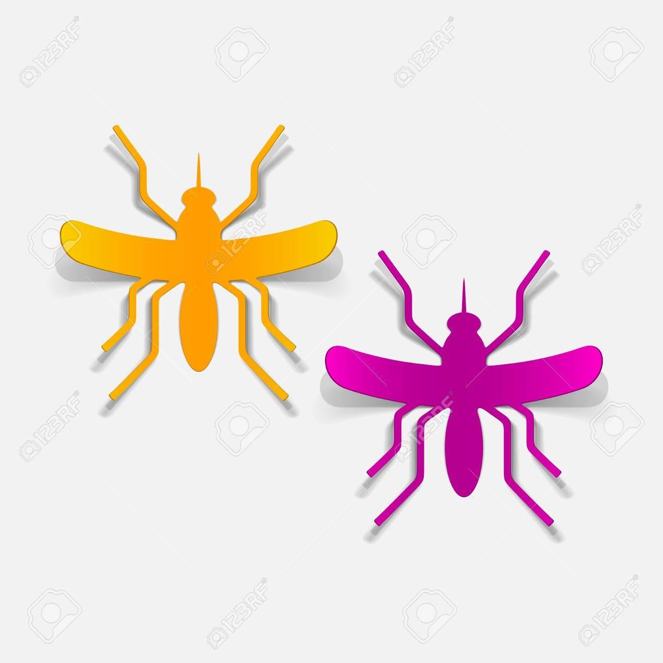 realistic design element: mosquito Stock Vector - 25407735