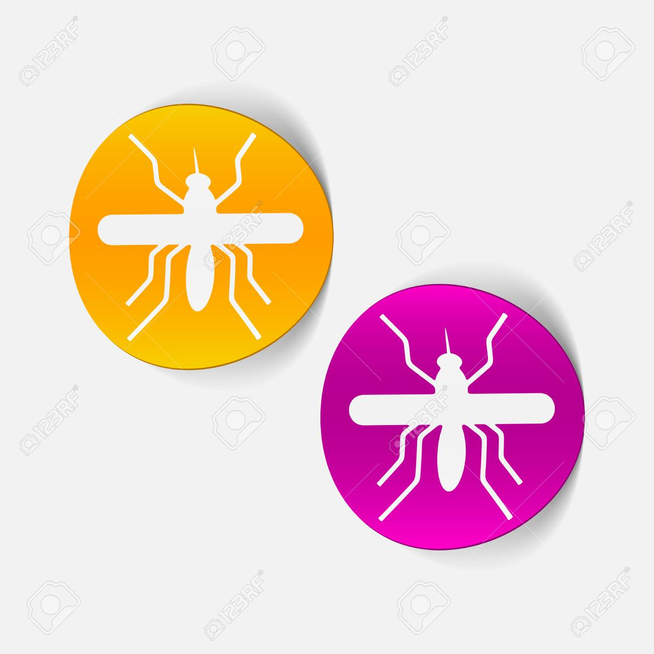 realistic design element: mosquito Stock Vector - 25414600