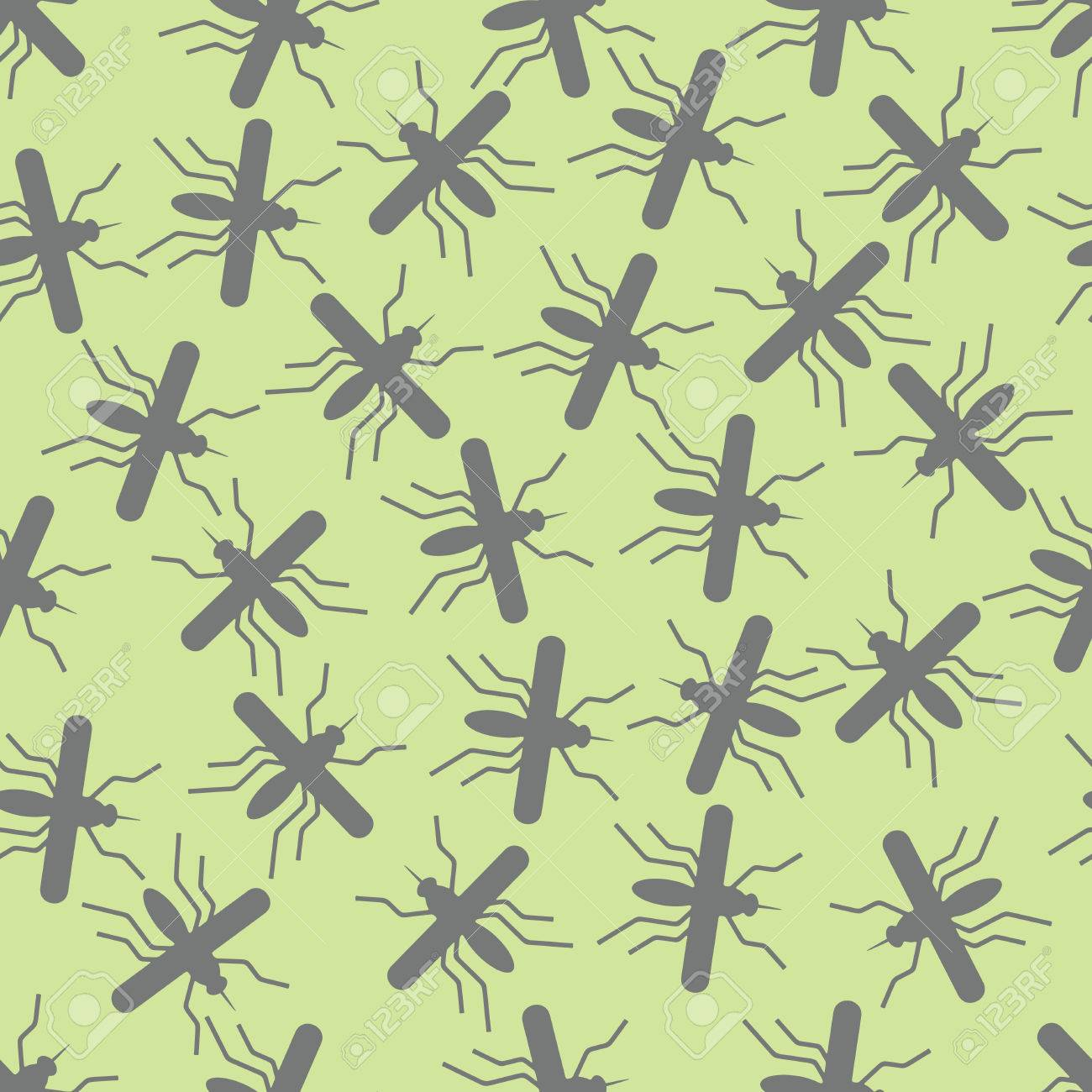 seamless background: mosquito. Vector Illustration Design Pattern Stock Vector - 25625207