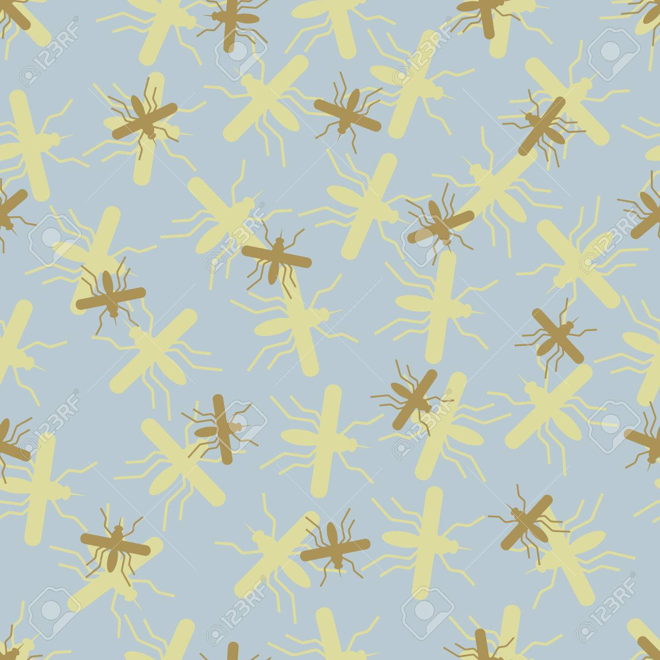 seamless background: mosquito. Vector Illustration Design Pattern Stock Vector - 25625208