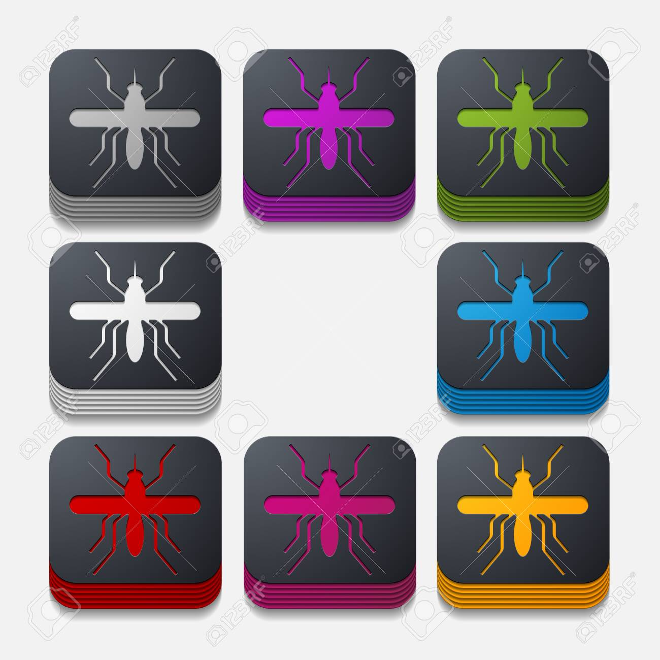 app concept, mosquito, insect Stock Vector - 27162478