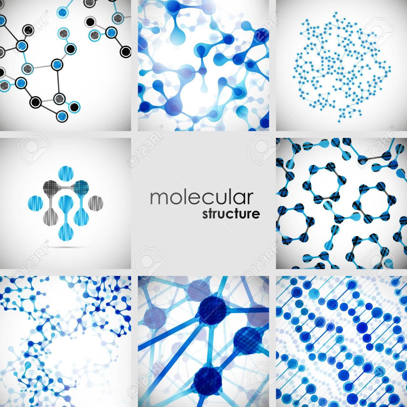 Set of beautiful structure DNA molecule - 27411765