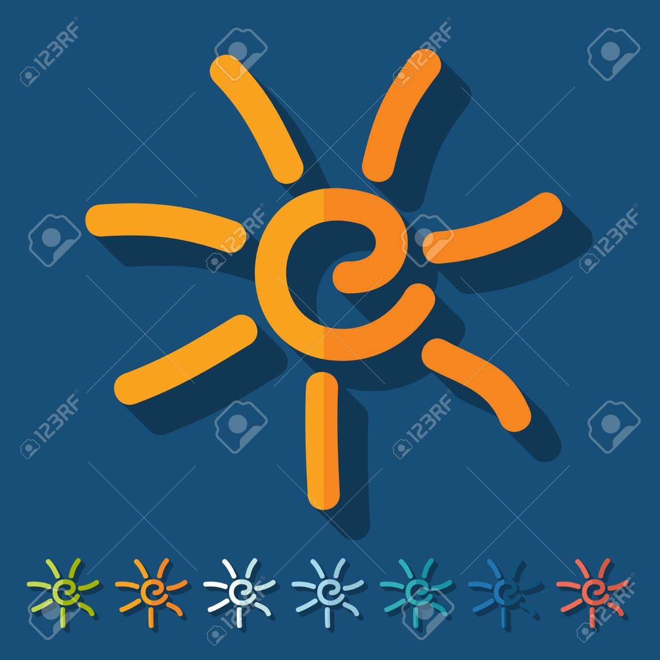 Flat design: sun Stock Vector - 29510455