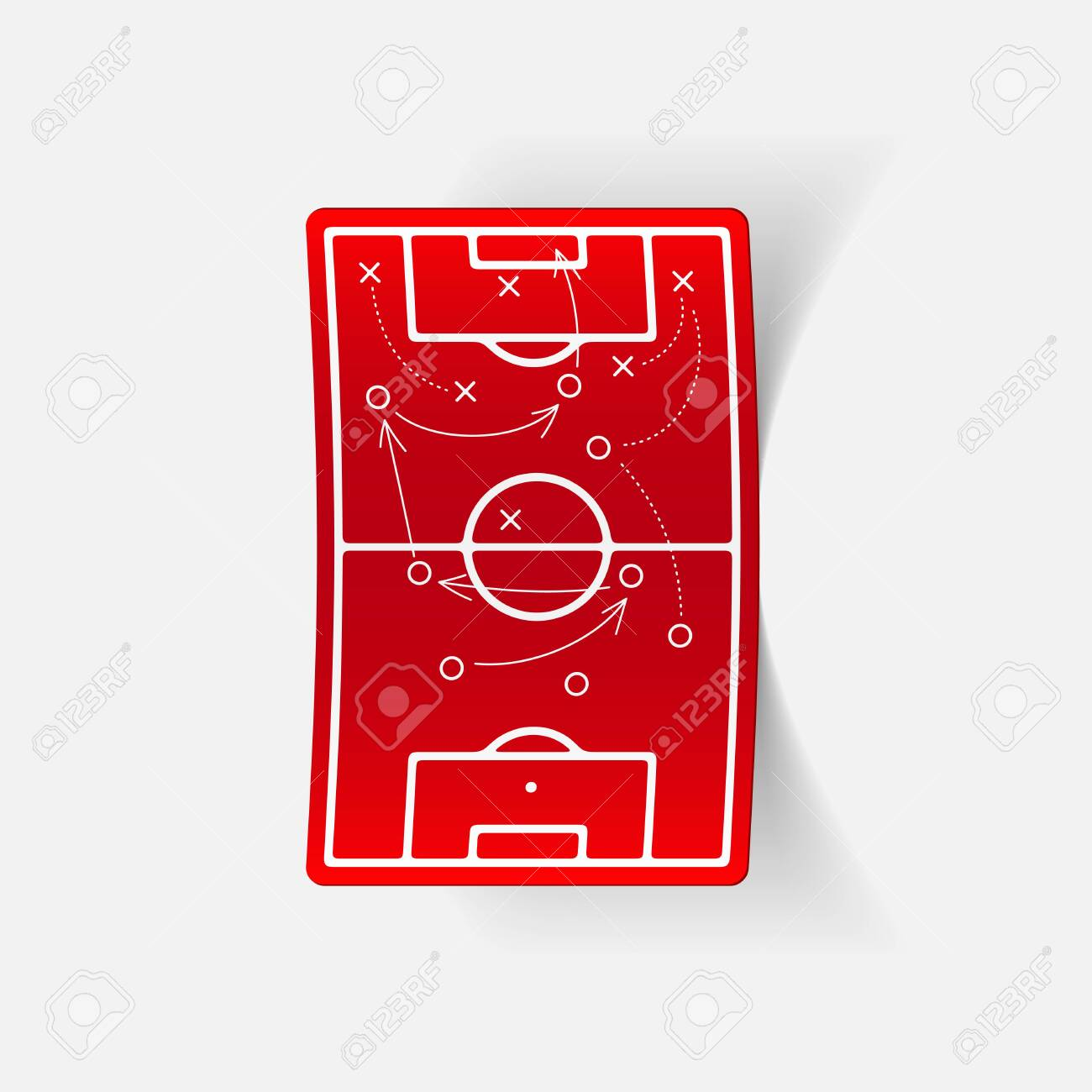 realistic design element: playing field Stock Vector - 29977898