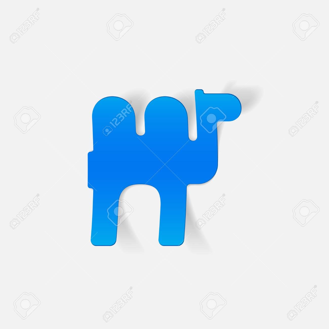 Realista Elemento De Diseño: Camello Ilustraciones Vectoriales ...