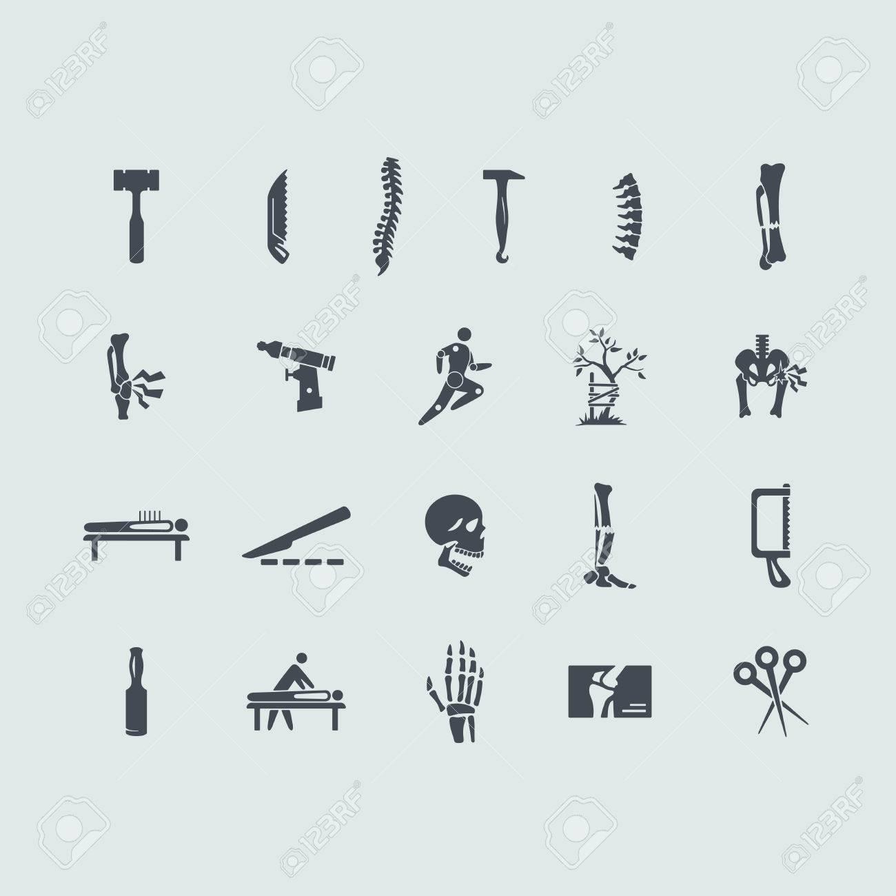 Orthopädie Vektor-Satz Von Moderne Einfache Symbole Lizenzfrei ...