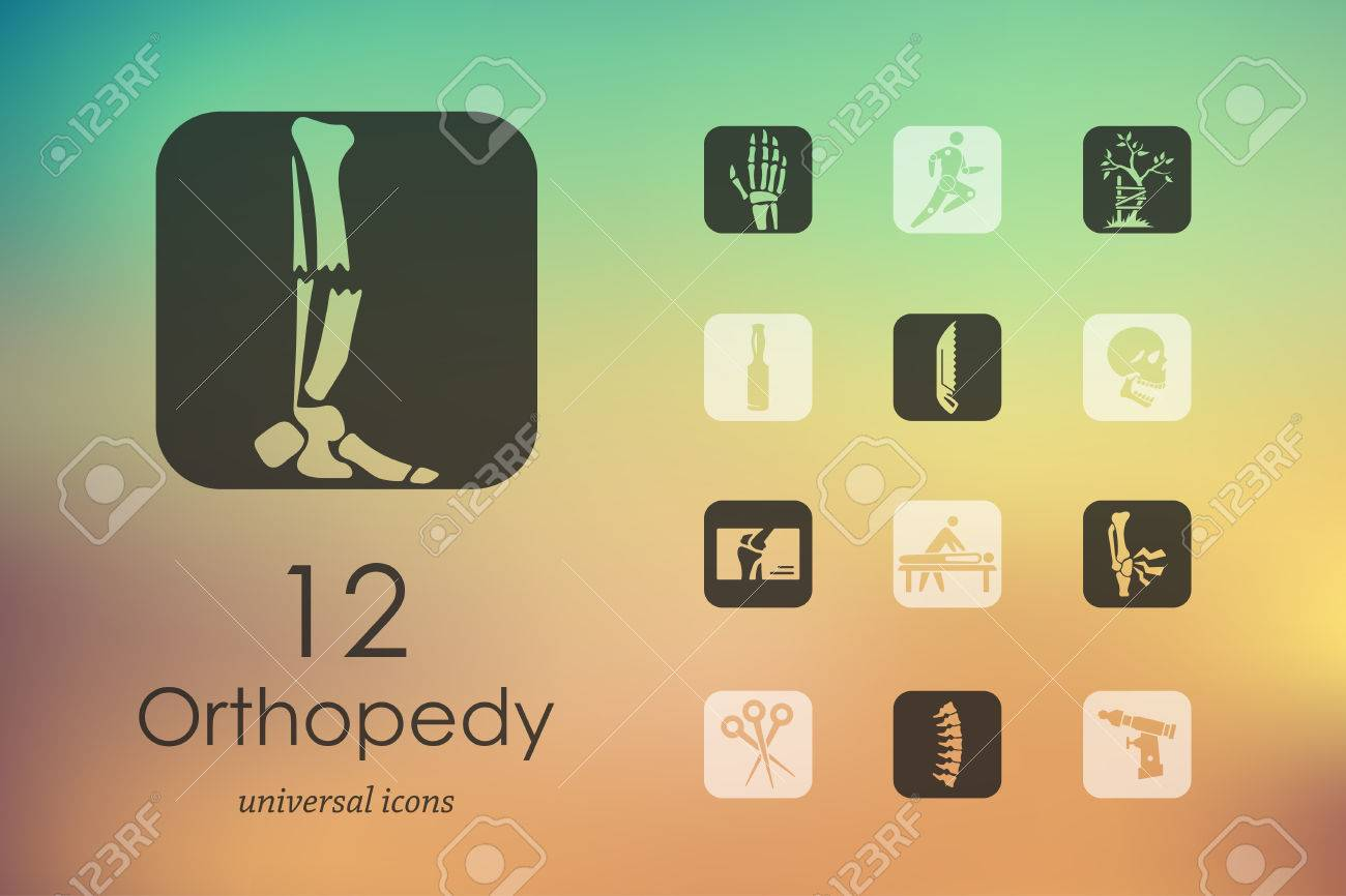 orthopedics modern icons for mobile interface on blurred background - 46459750