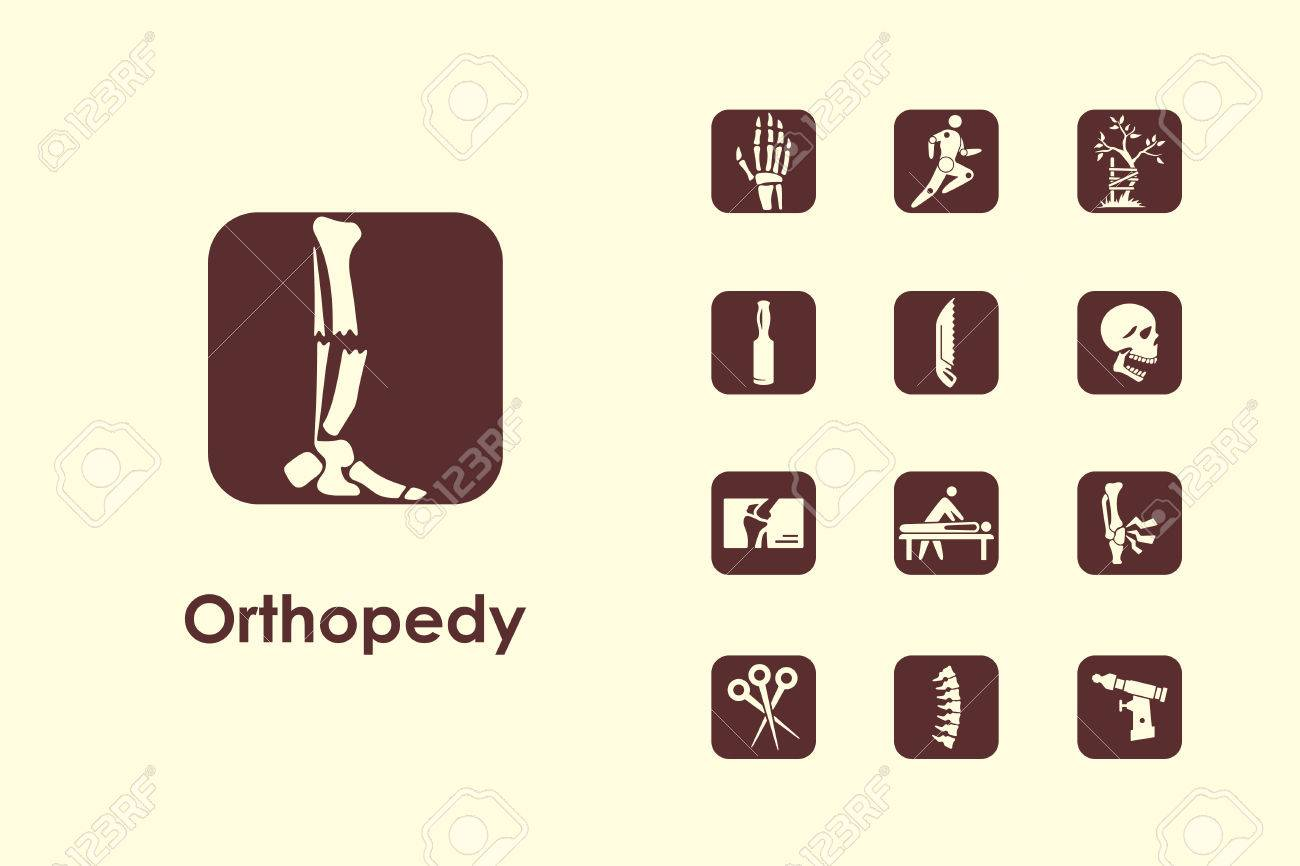 It is a set of orthopedics simple web icons - 47029607