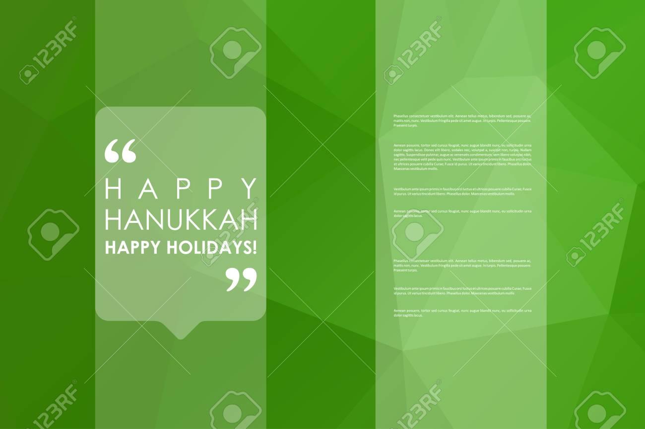 Conjunto De Folletos, Plantillas De Carteles En Estilo Hanukkah ...