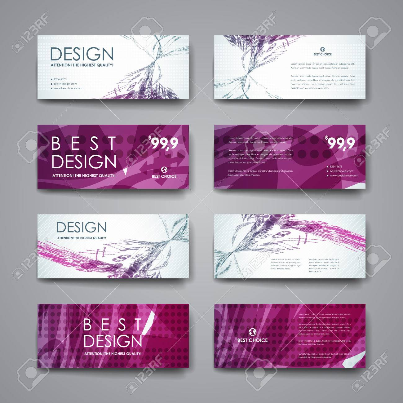 Set of modern design banner template in abstract background style. Beautiful design and layout - 51381535