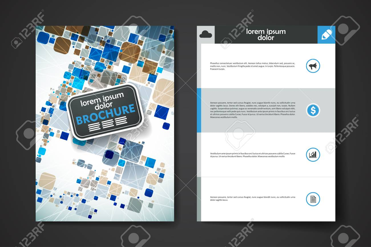 set of brochure poster templates in abstract background style