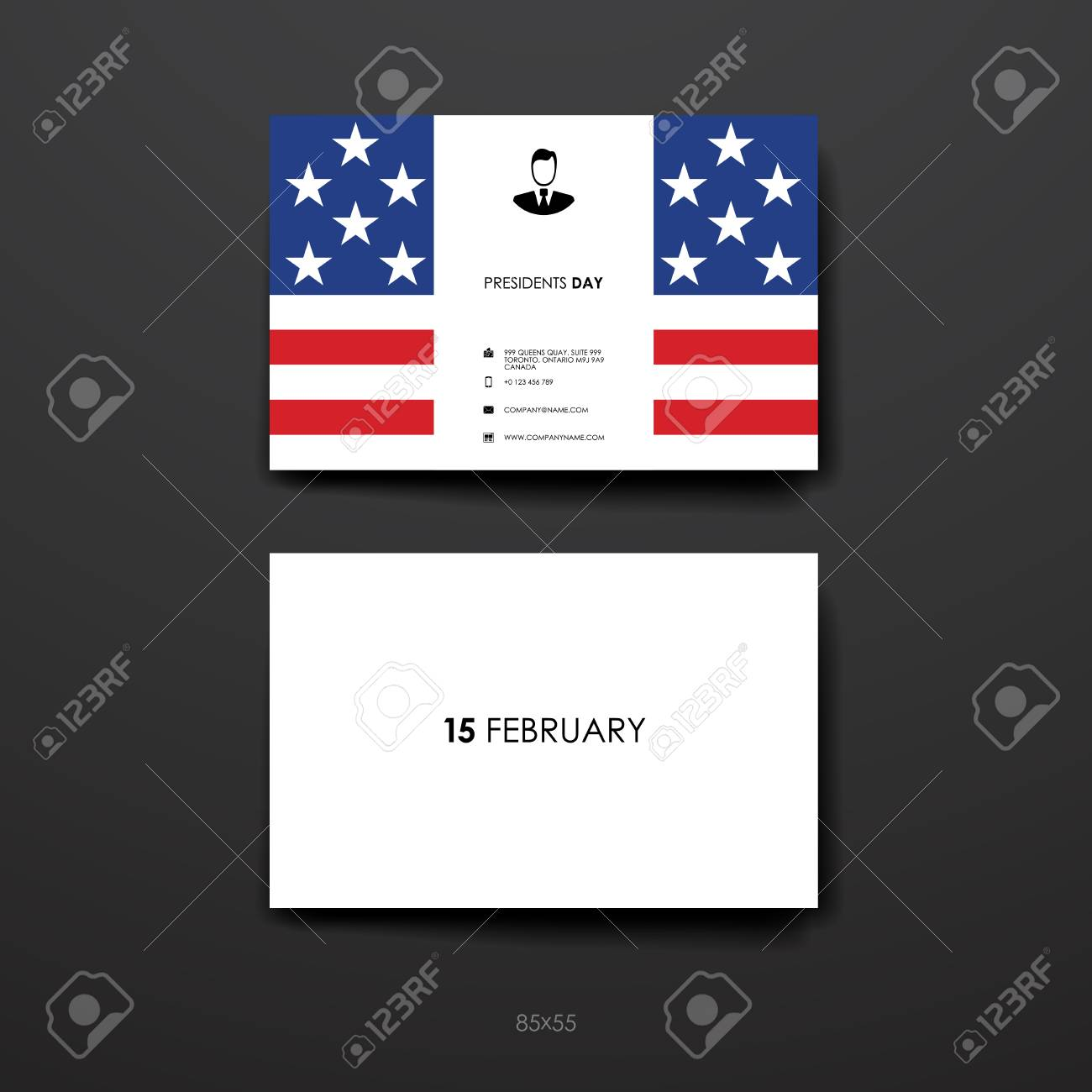 Set of business card template in presidents day style beautiful set of business card template in presidents day style beautiful design and layout stock vector accmission Choice Image