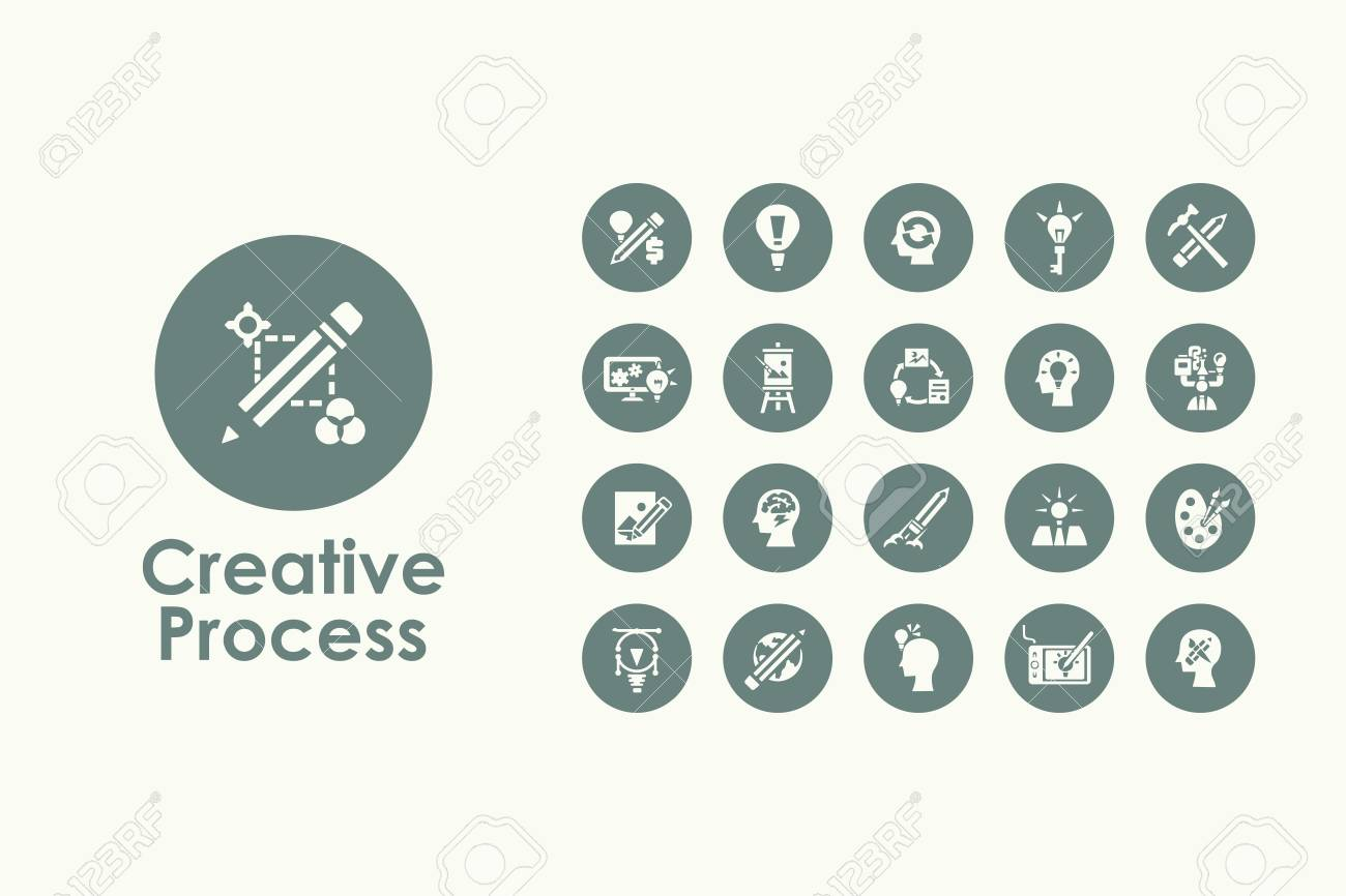 It is a set of creative process simple web icons - 53356597