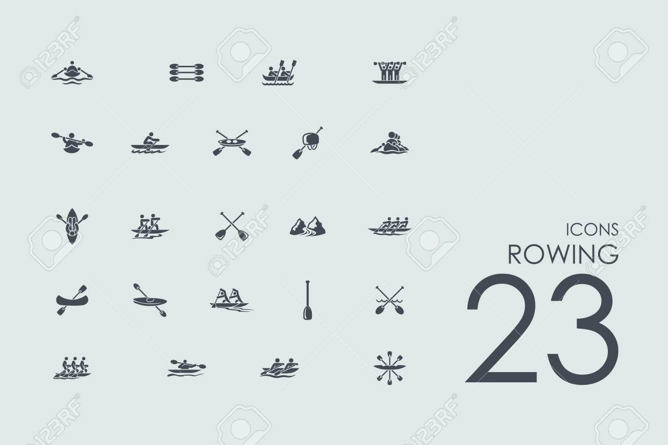 rowing vector set of modern simple icons - 53833736