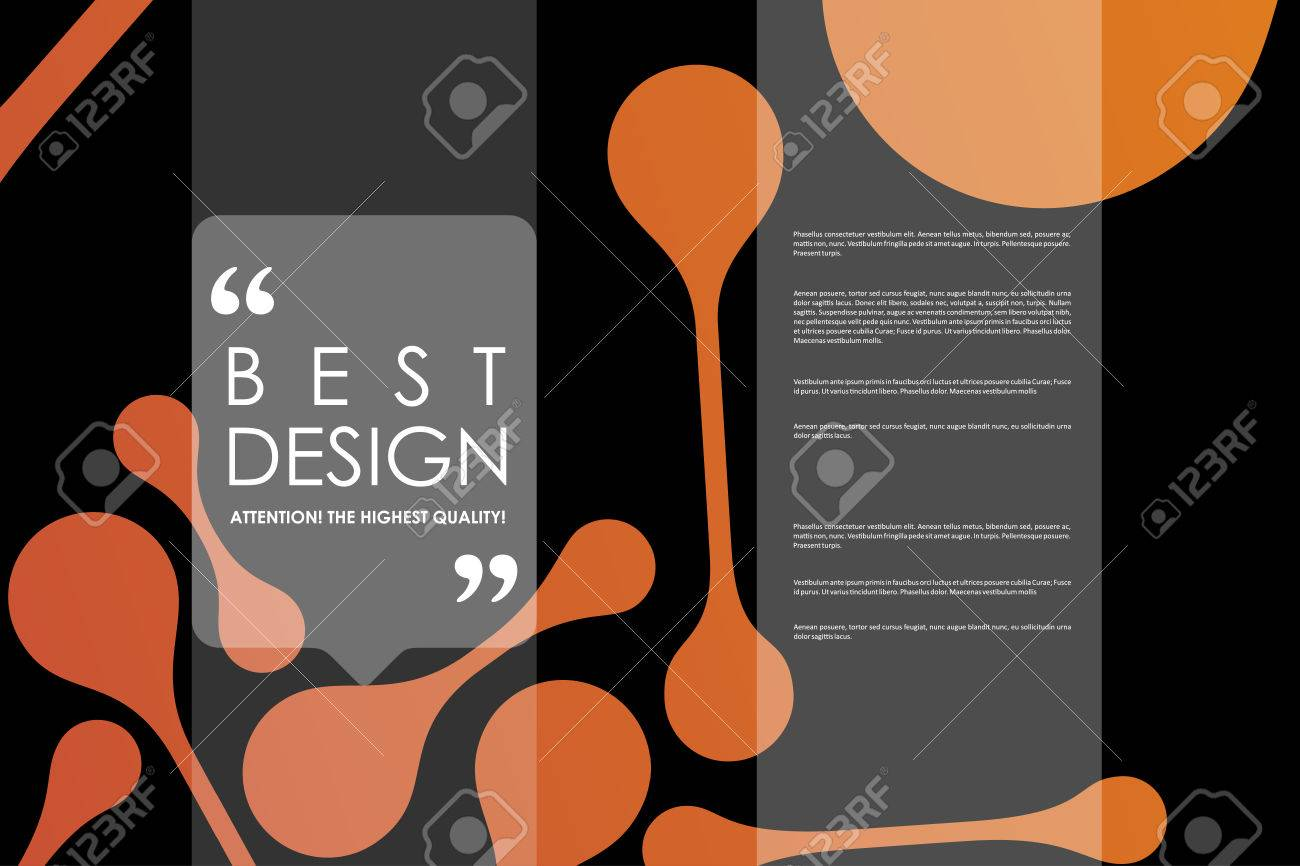 Set of brochure, poster templates in DNA molecule style  Beautiful