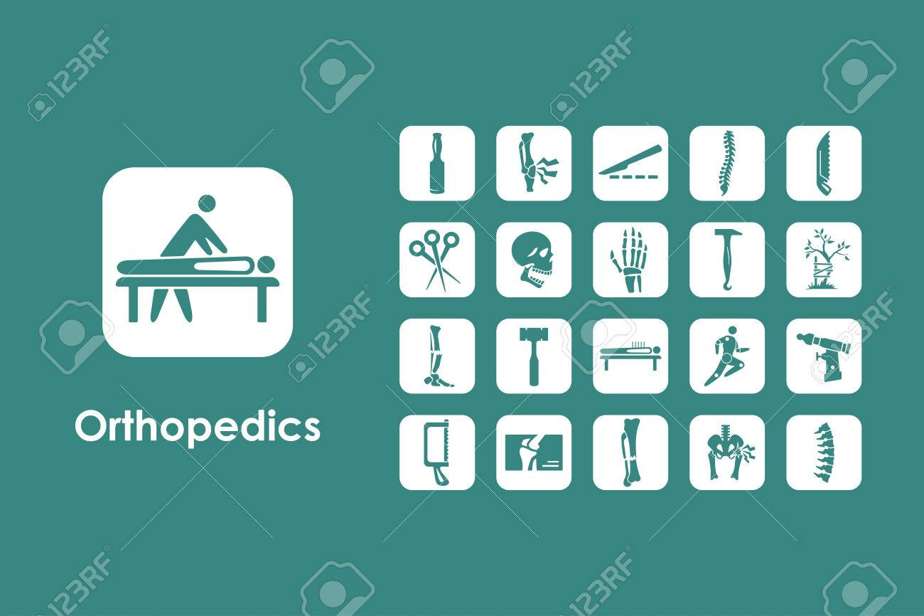 It is a set of orthopedics simple web icons - 55138702