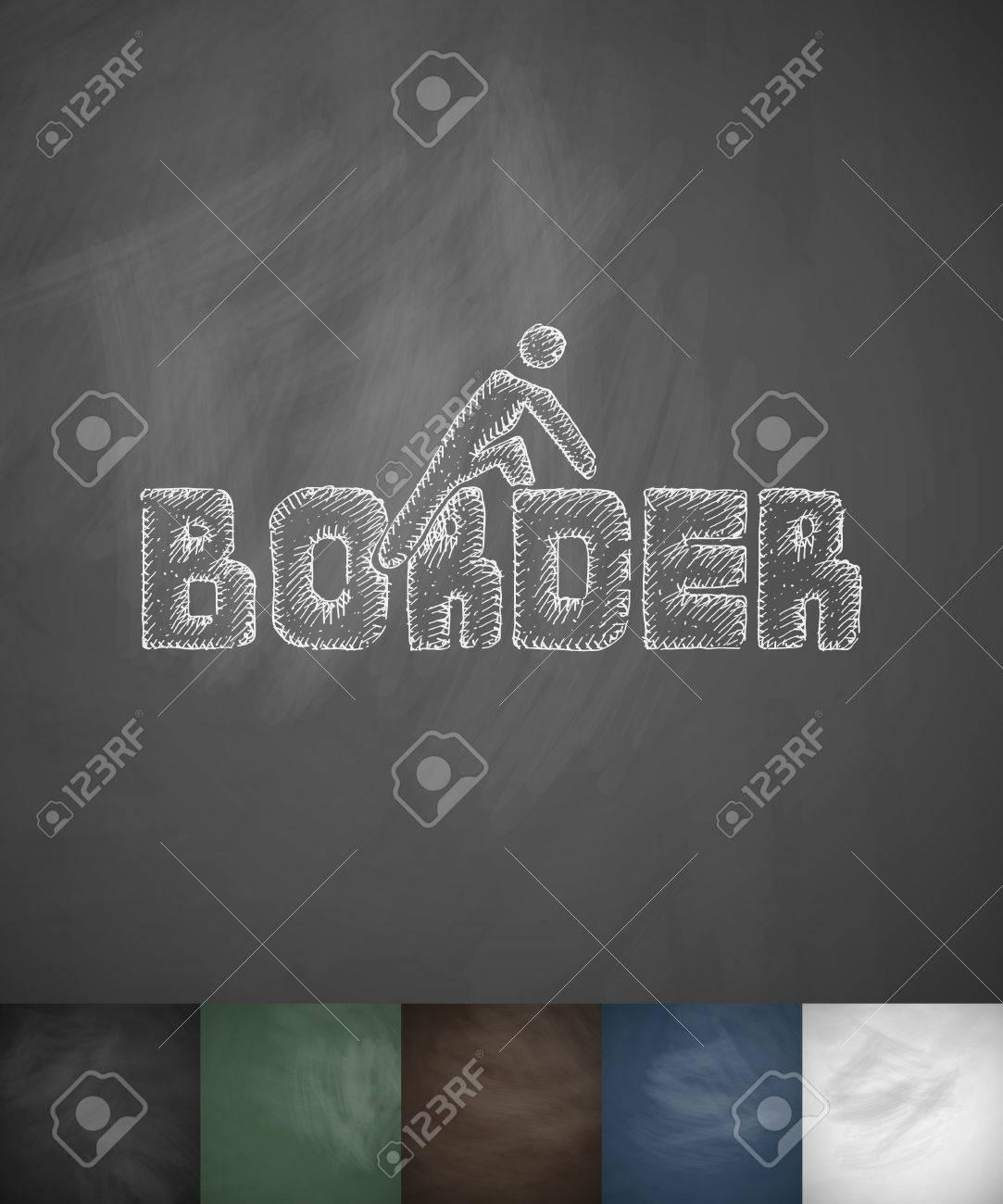 BORDER Icon. Hand Drawn Vector Illustration. Chalkboard Design Stock Vector    56876554
