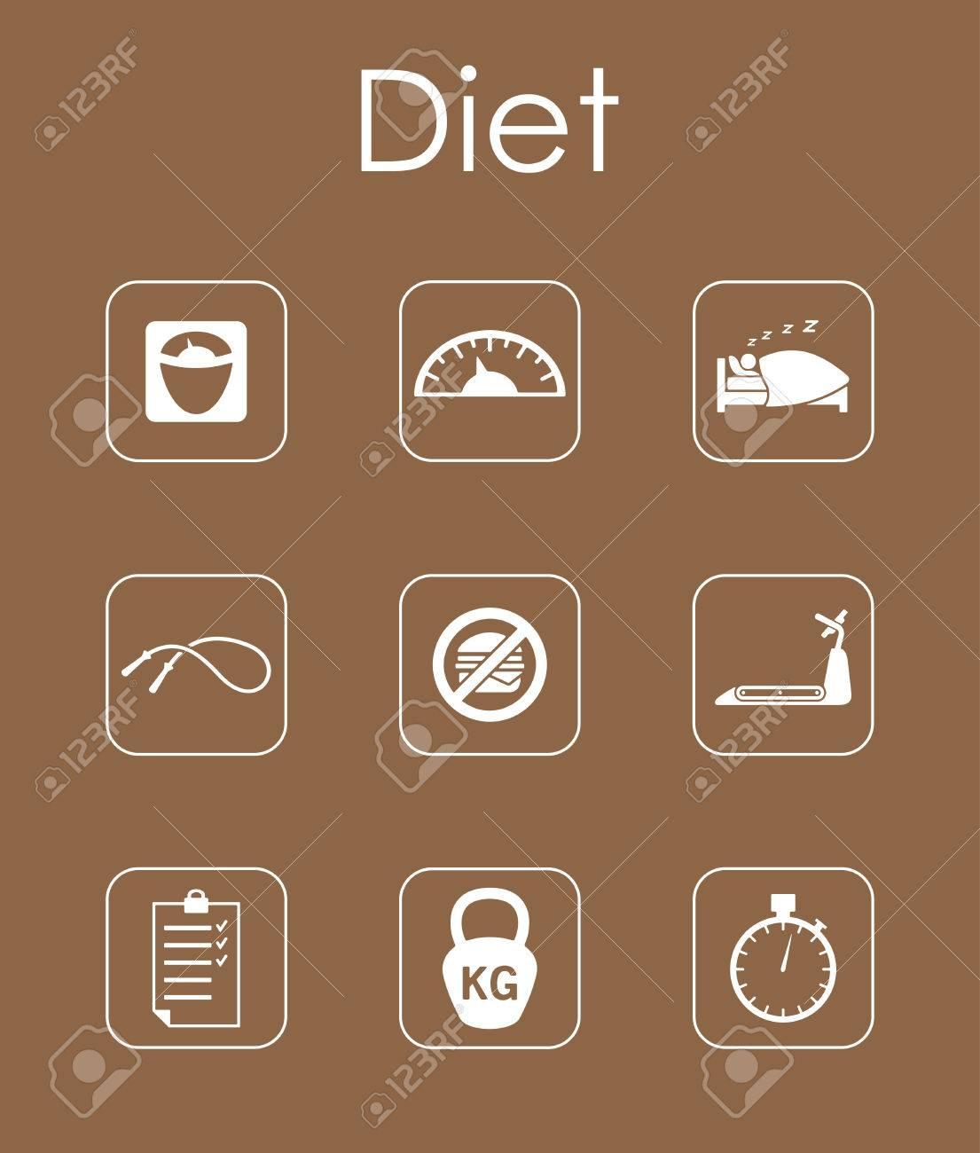 Set Diät Einfache Symbole Lizenzfrei Nutzbare Vektorgrafiken, Clip ...