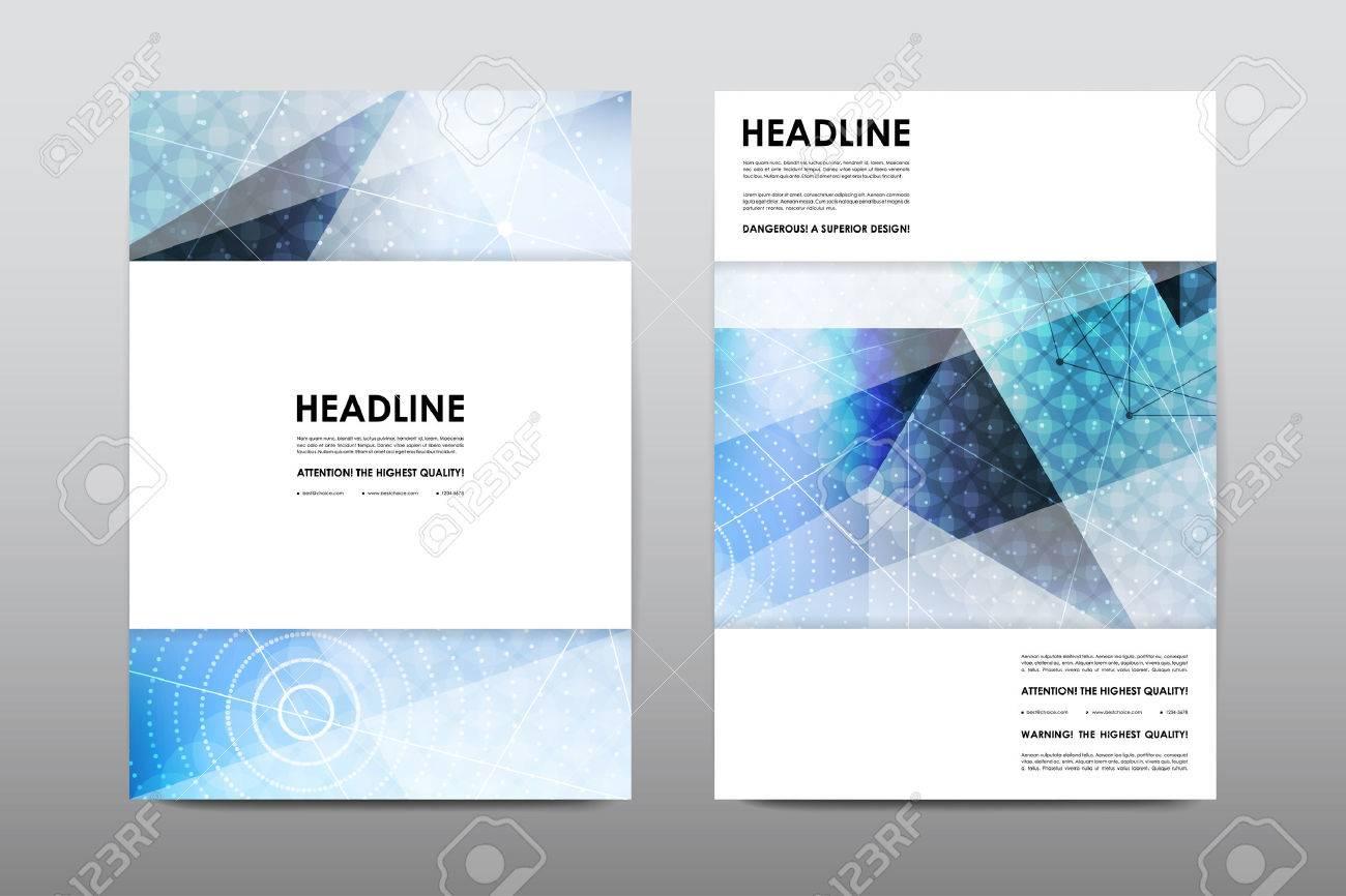Broschüre Layout-Vorlage Flyer Design-Vektor, Zeitschrift Broschüre ...