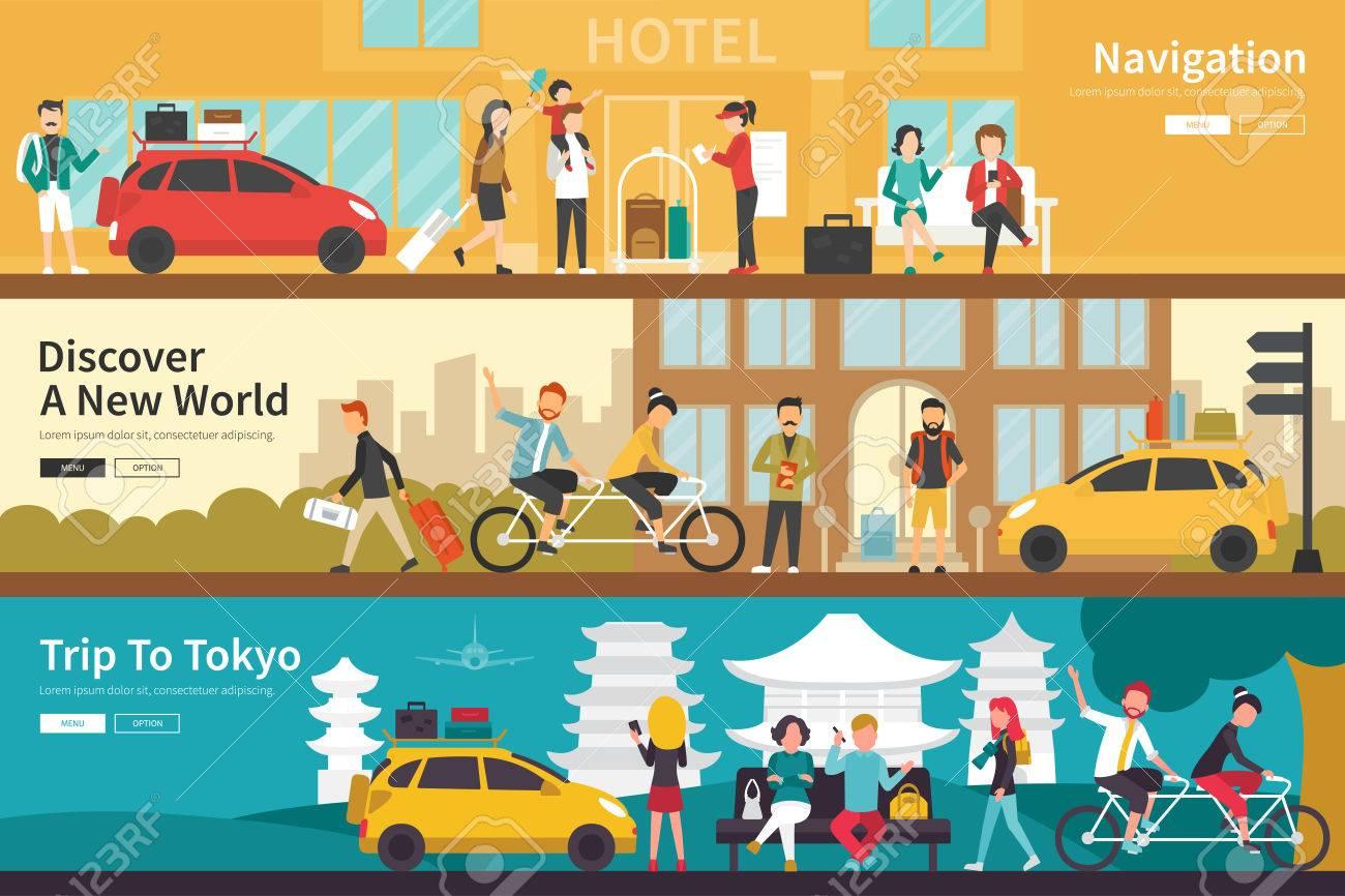 Navigation Entdecken Sie Eine Neue Weltreise Tokyo Flach Tourismus ...