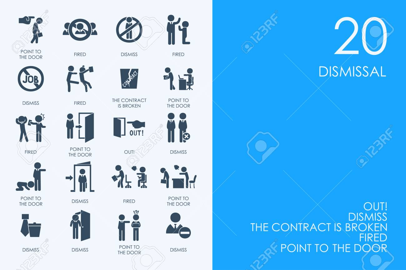 dismissal vector set of modern simple icons - 66878378
