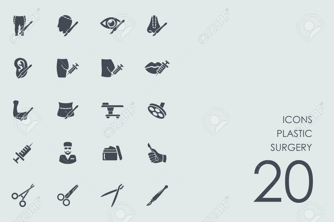 plastic surgery vector set of modern simple icons - 66878508