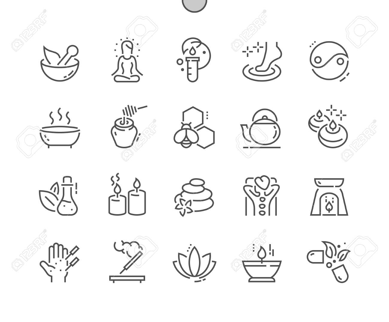Alternative medicine Well-crafted Pixel Perfect Vector Thin Line Icons 30 2x Grid for Web Graphics and Apps. Simple Minimal Pictogram - 98141114