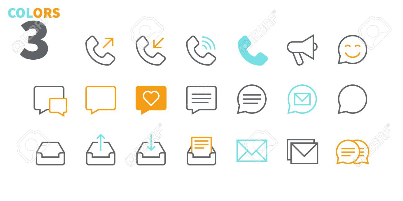 Communication Pixel Perfect Well-crafted Vector Thin Line Icons 48x48 Ready for 24x24 Grid for Web Graphics and Apps with Editable Stroke. Simple Minimal Pictogram - 99120752