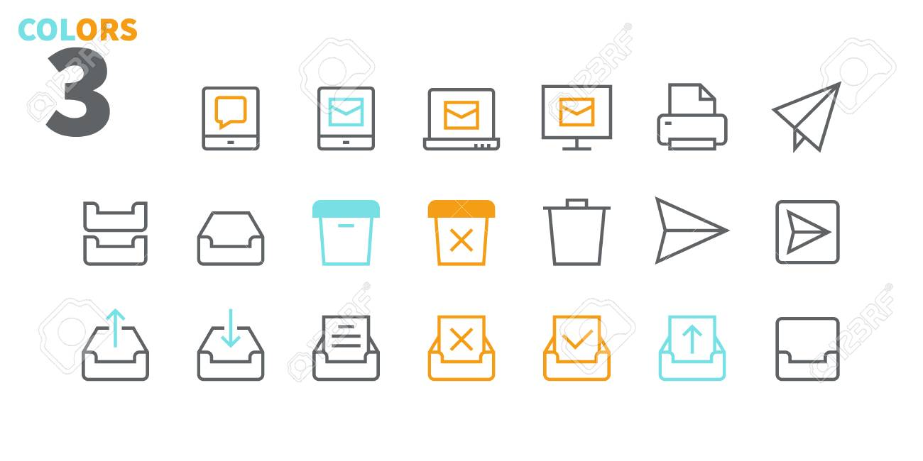 Email UI Pixel Perfect Well-crafted Vector Thin Line Icons 48x48 Ready for 24x24 Grid for Web Graphics and Apps with Editable Stroke. Simple Minimal Pictogram Part 2-5 - 109718173