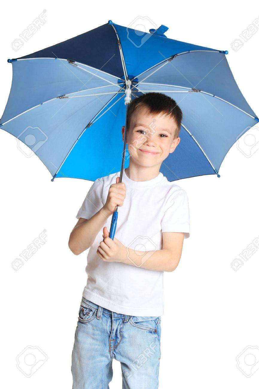 boy with umbrella stock photo picture and royalty free image image