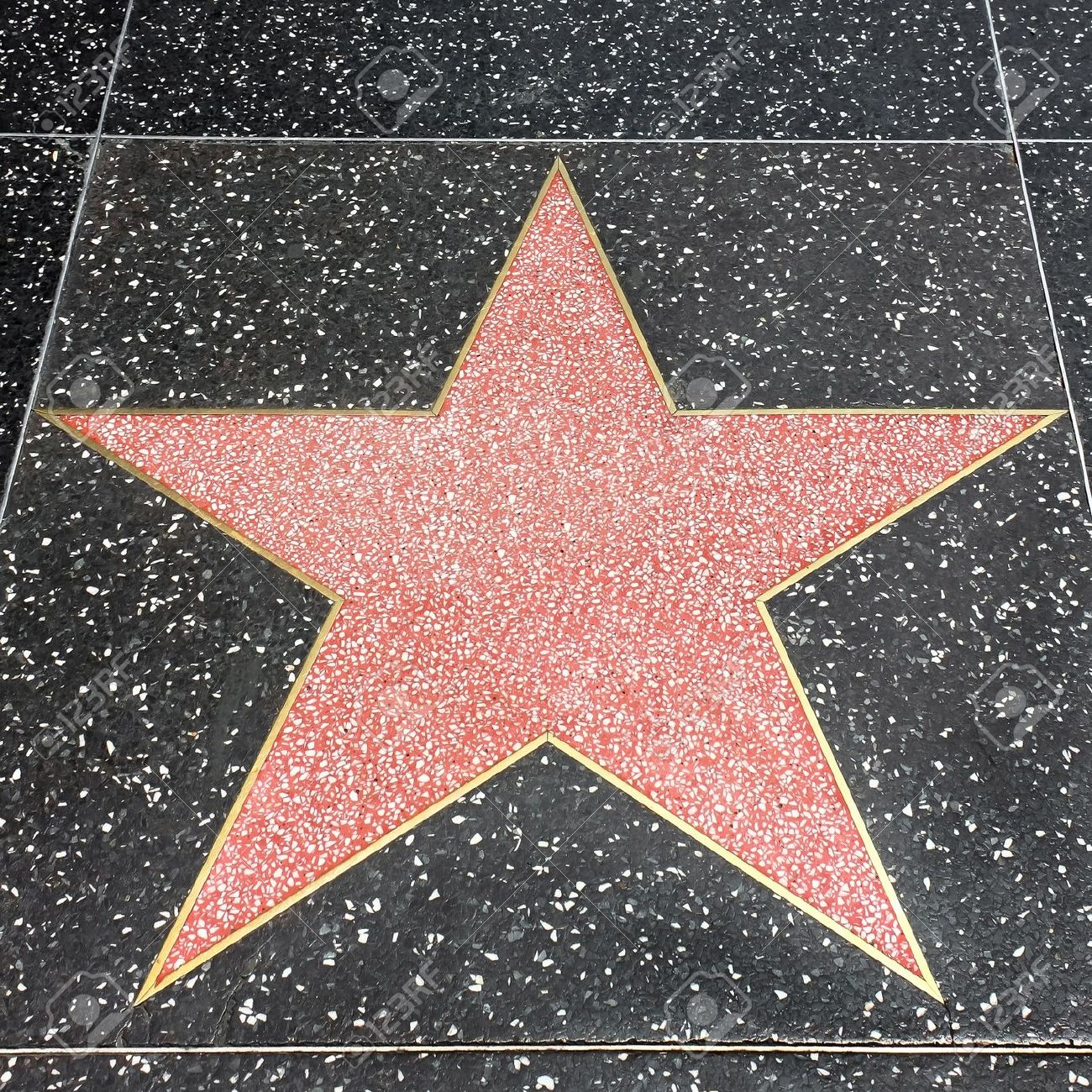 star on the hollywood walk of fame at hollywood blvd stock photo