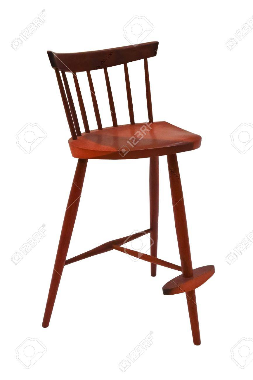Three legged wooeden chair isolated on white background Stock Photo - 12575230