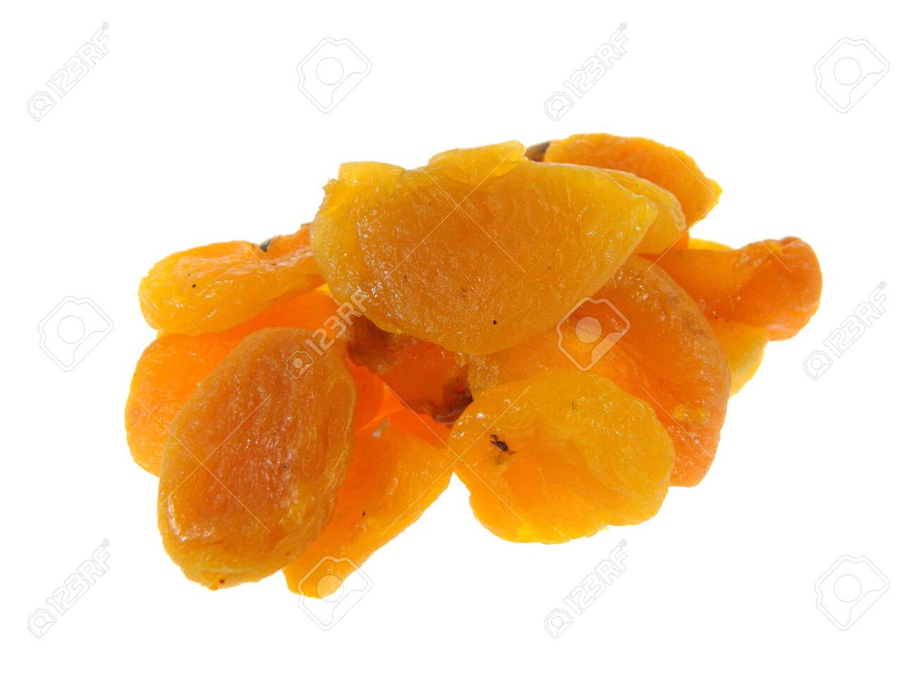 dried fruits isolated on white background - 137367356