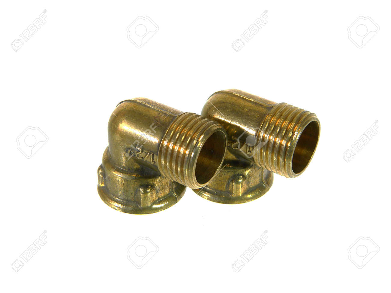 threaded pipe isolated on white background - 171619886