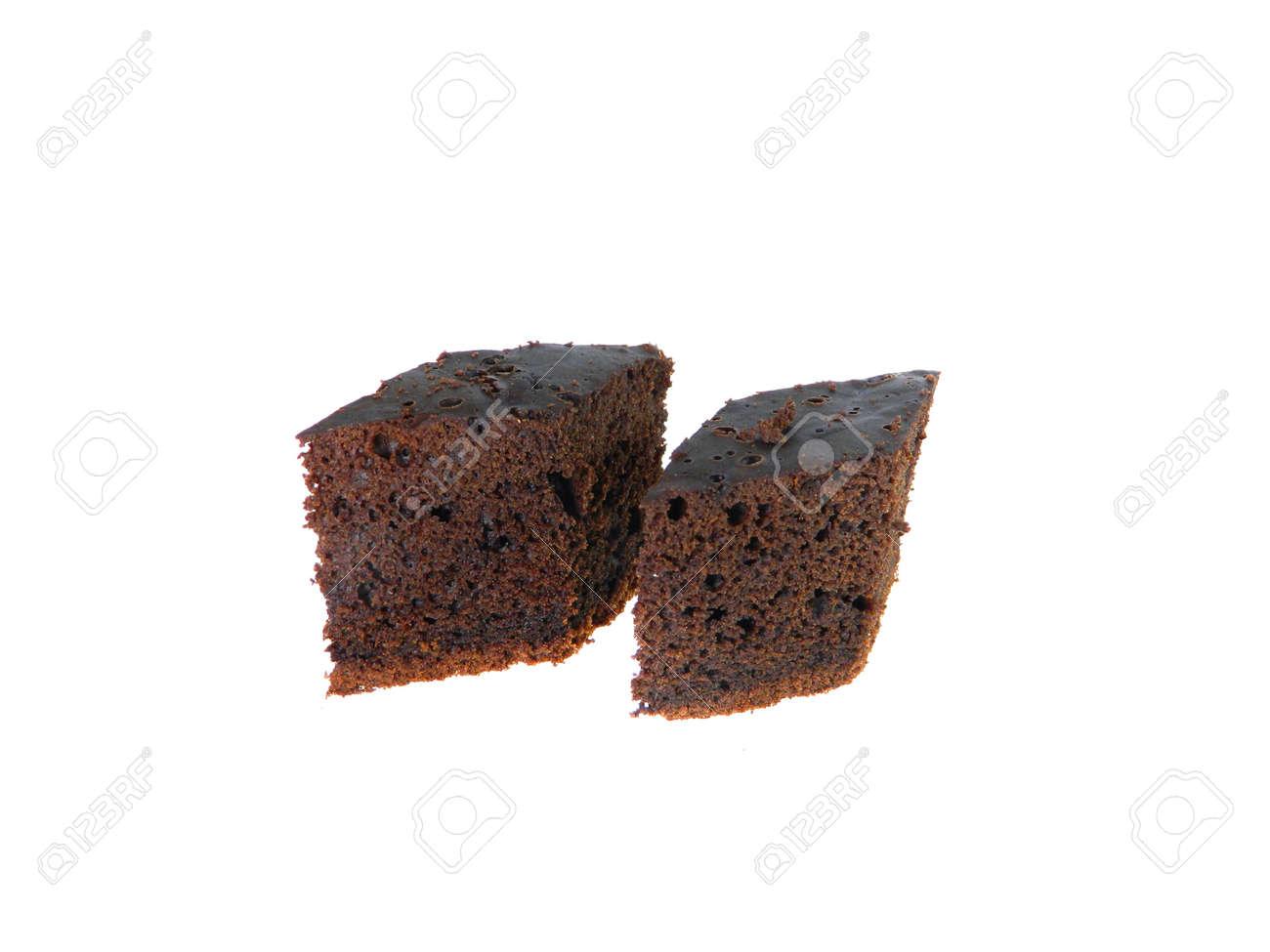 chocolate cake isolated on white background - 171791011