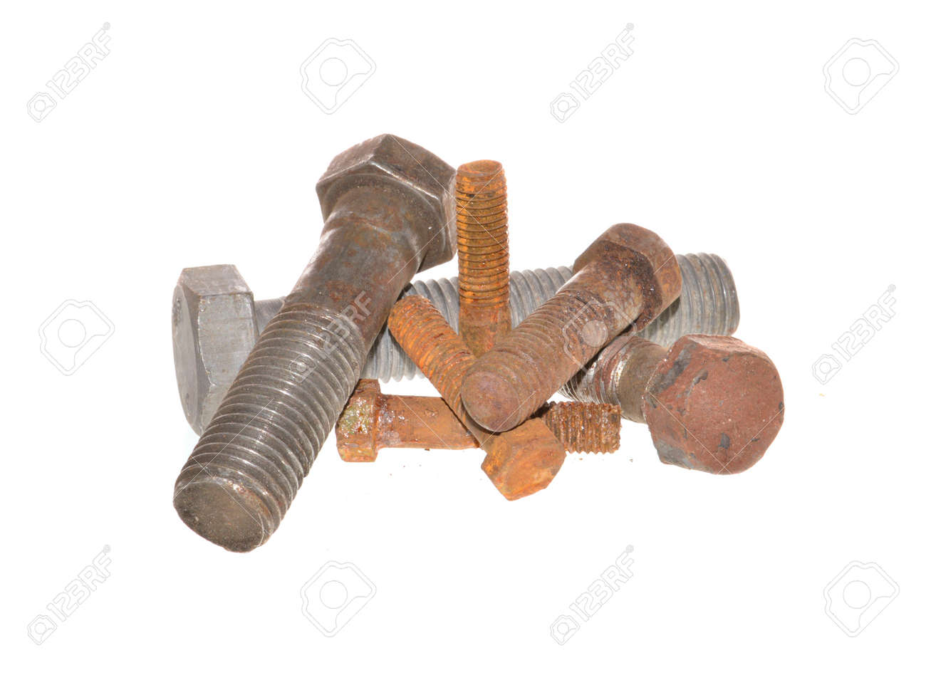 rusty bolt isolated on white background - 171898175