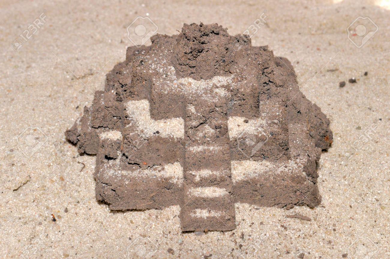 sand isolated on white background - 171980649