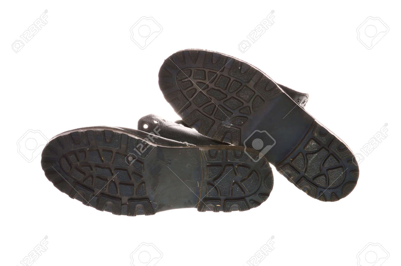 work boots isolated on white background - 171980927