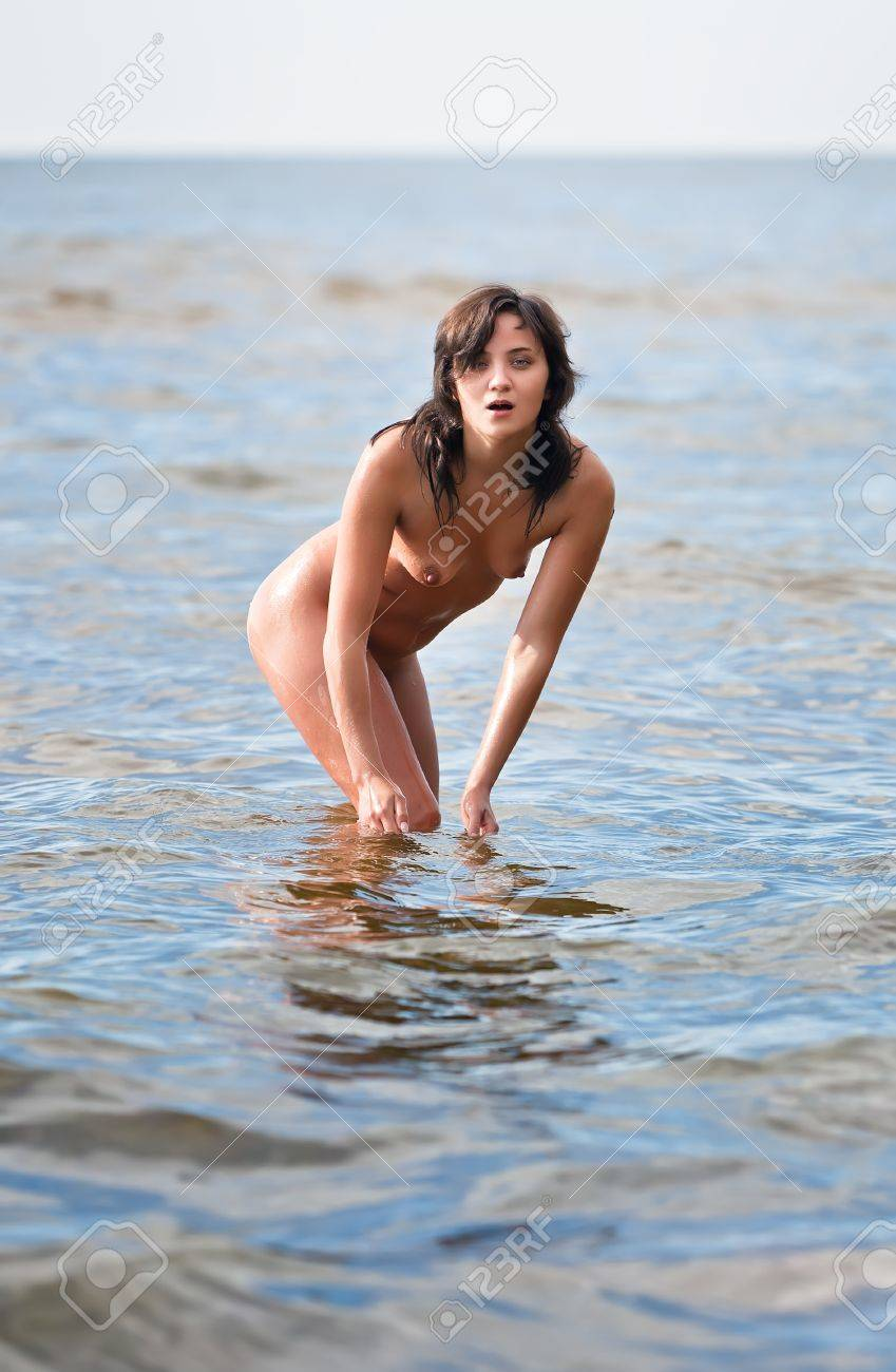 Beautiful naked standing women