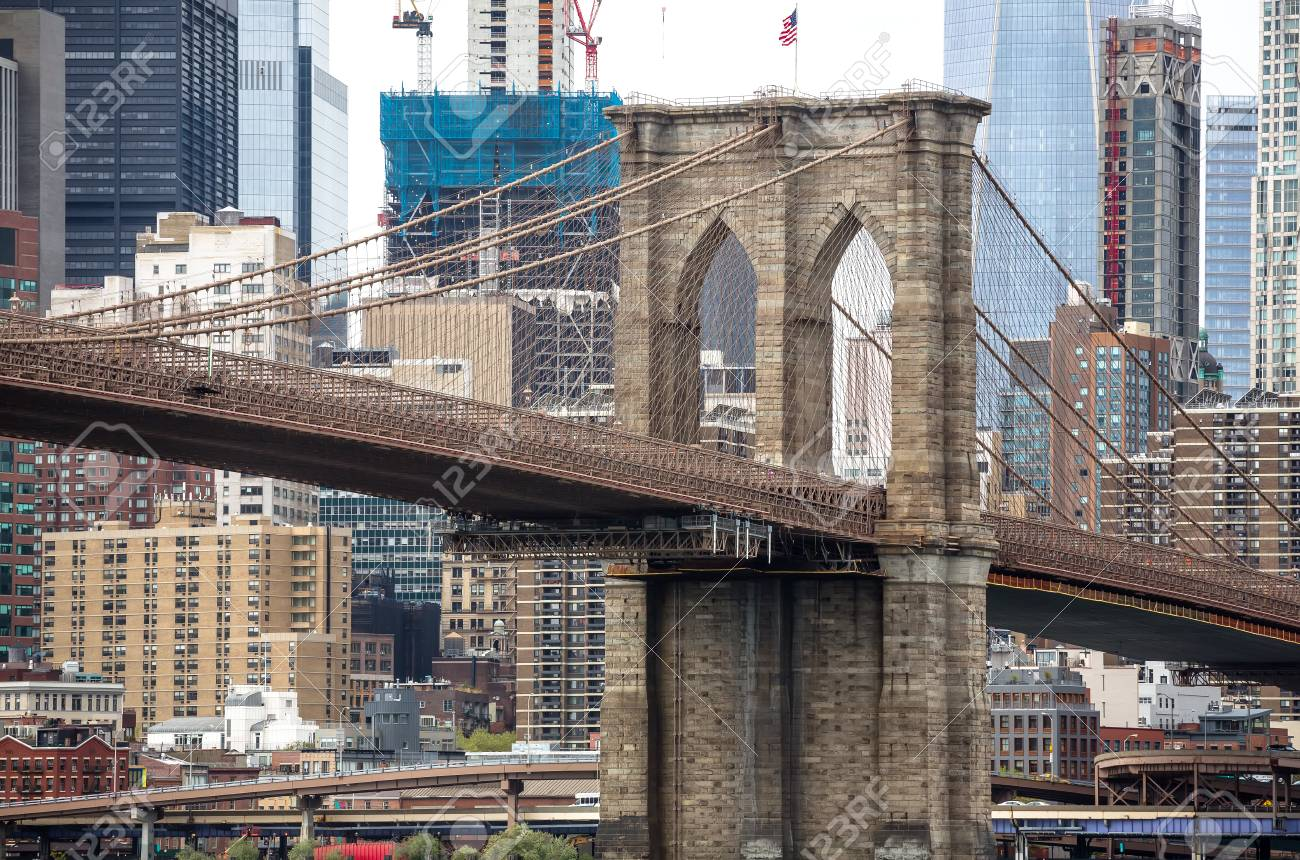 View of brooklyn bridge and manhattan from the east river fotos foto de archivo view of brooklyn bridge and manhattan from the east river malvernweather Gallery