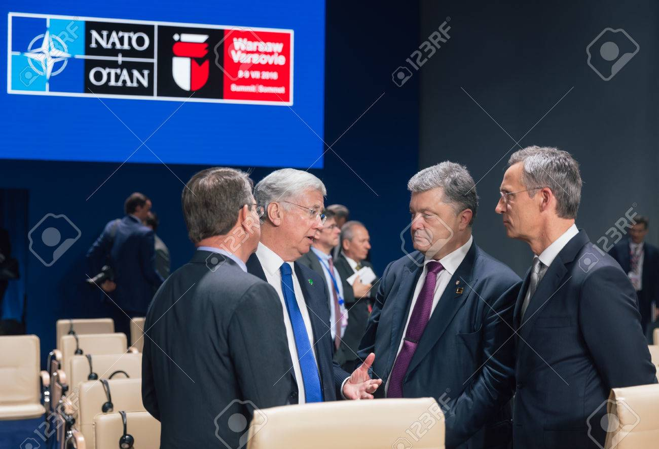 Warsaw Poland Jul 9 2016 Defense Minister Of Great