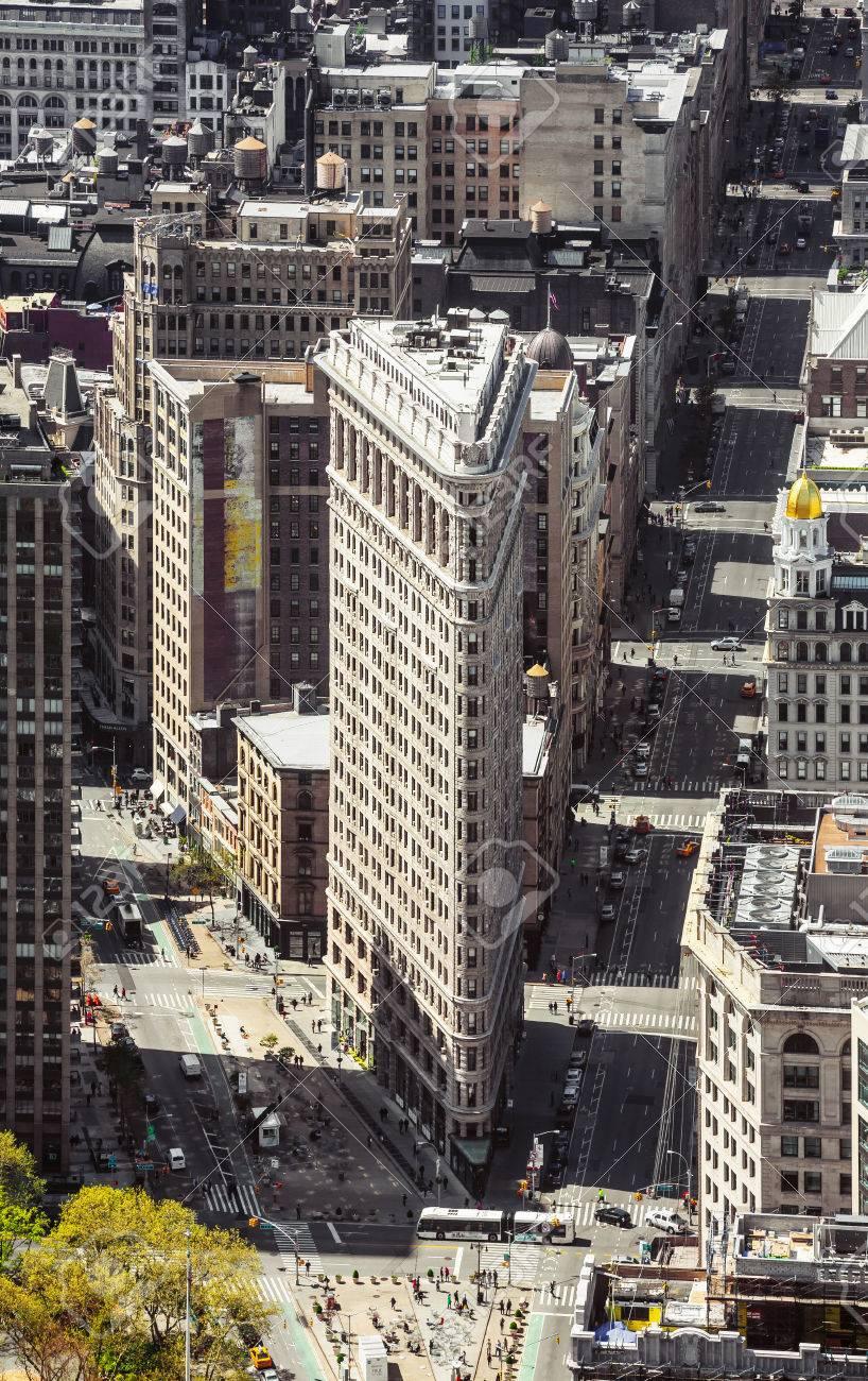 NEW YORK, USA - 27. April 2016: Flatiron Gebäude Bei NYC ...
