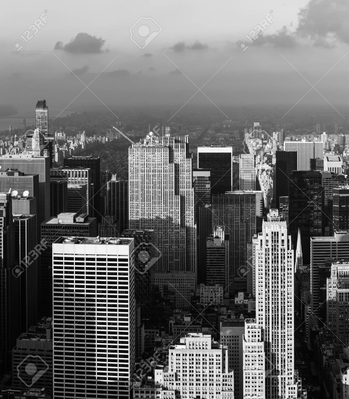 New York Usa Sep 17 2017 Black And White Image Of Streets And