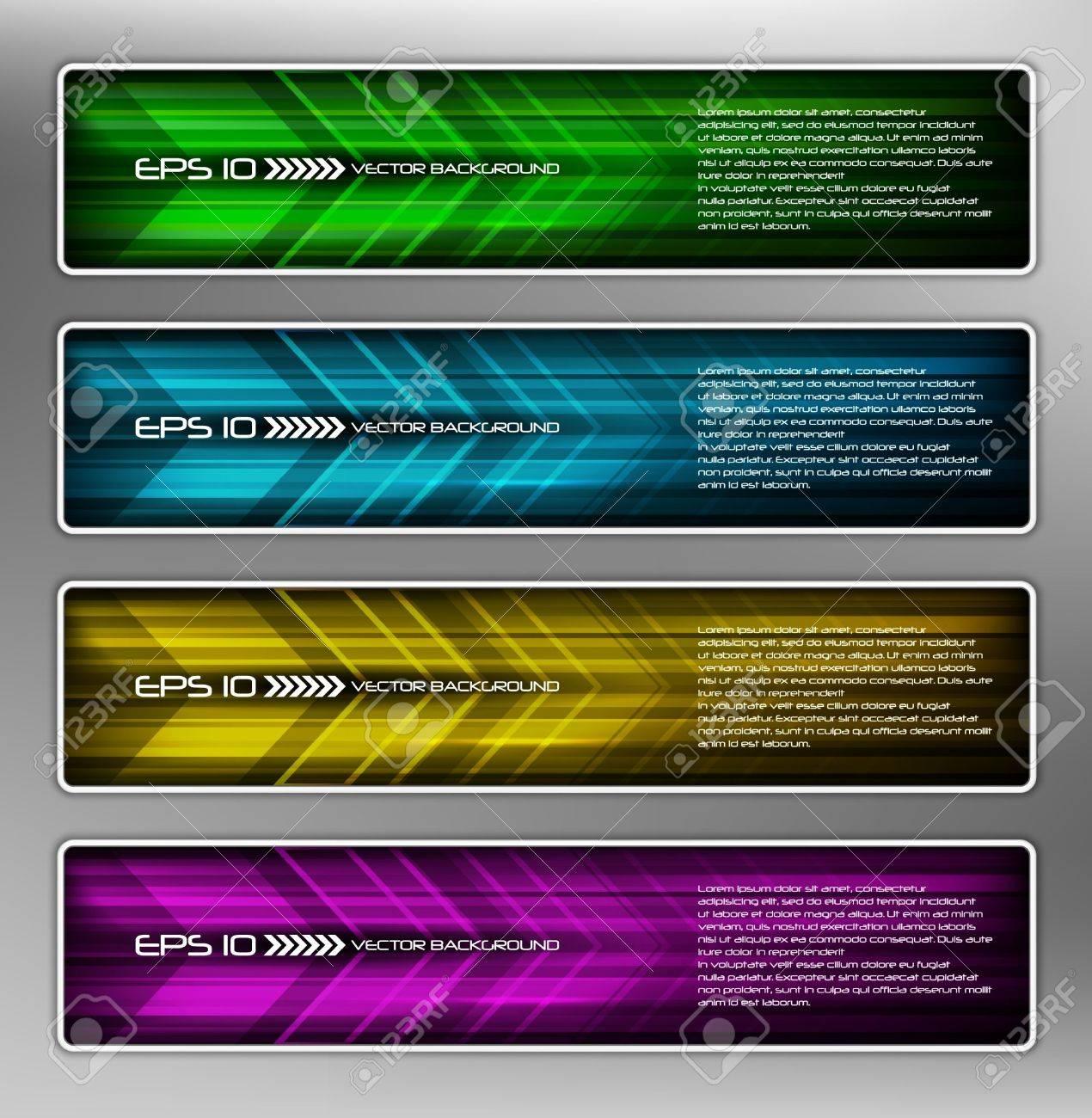 vector abstract web banner, creative design Stock Vector - 10835935