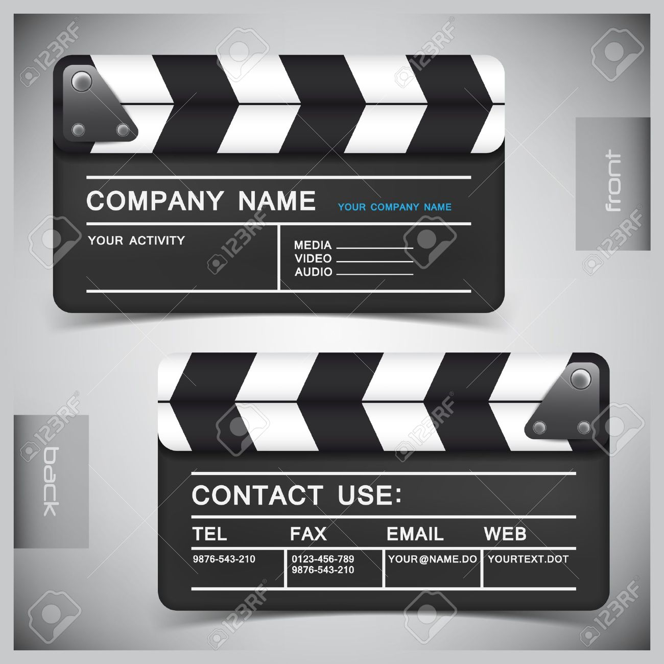 abstract creative business cards (set template) - 11307752