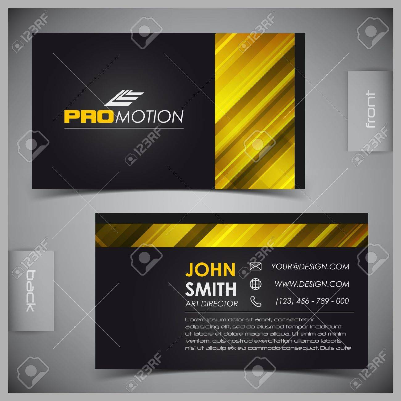 Vector abstract creative business cards (set template) Stock Vector - 11661910