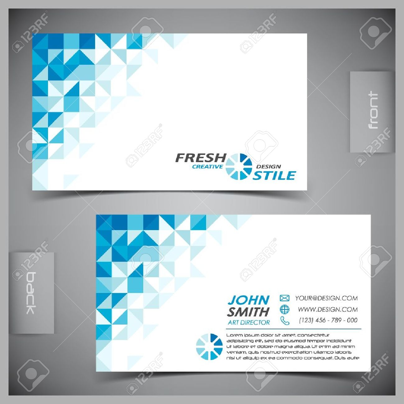 Vector abstract creative business cards (set template) Stock Vector - 12497583
